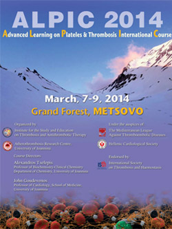 ALPIC 2014 - Advanced Learning on Platelets & Thrombosis International Course