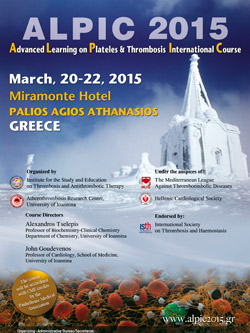 ALPIC 2015 - Advanced Learning on Platelets & Thrombosis International Course